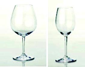 calice vino rosso e vino bianco
